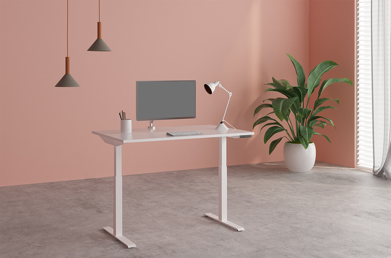 Image of Fríants height adjustable desk