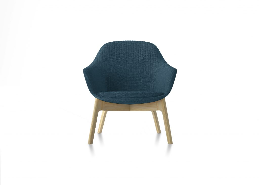 Friant Furniture Soft Seating Jest Lounge Chair Render - Blue
