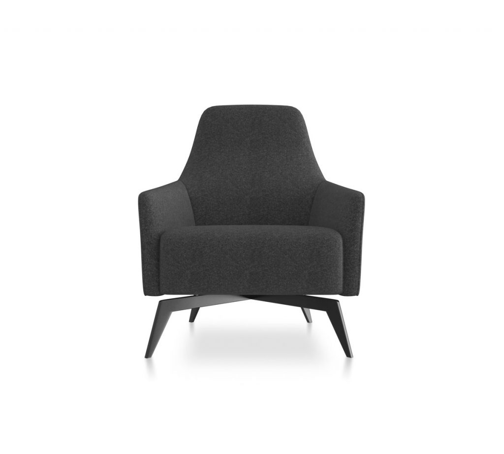 Friant Soft Seating Anza Lounge Chair Render Dark Gray