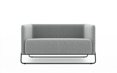 Friant Furniture Soft Seating Hanno Render -Loveseat