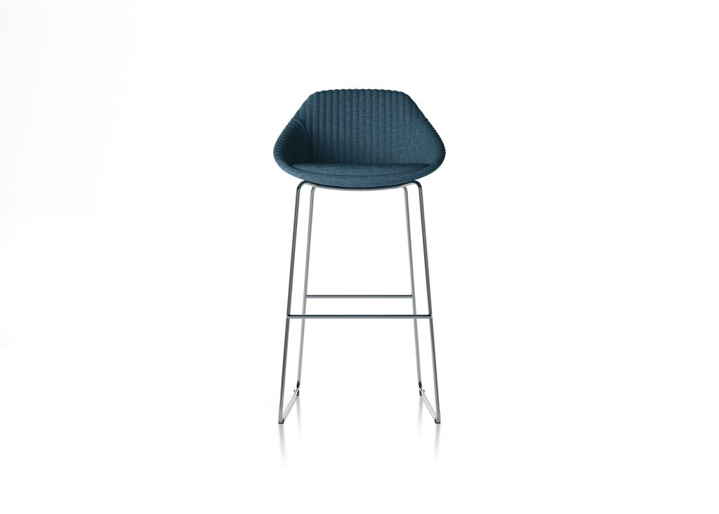 Friant Furniture Soft Seating Jest Counter Chair Render - Blue