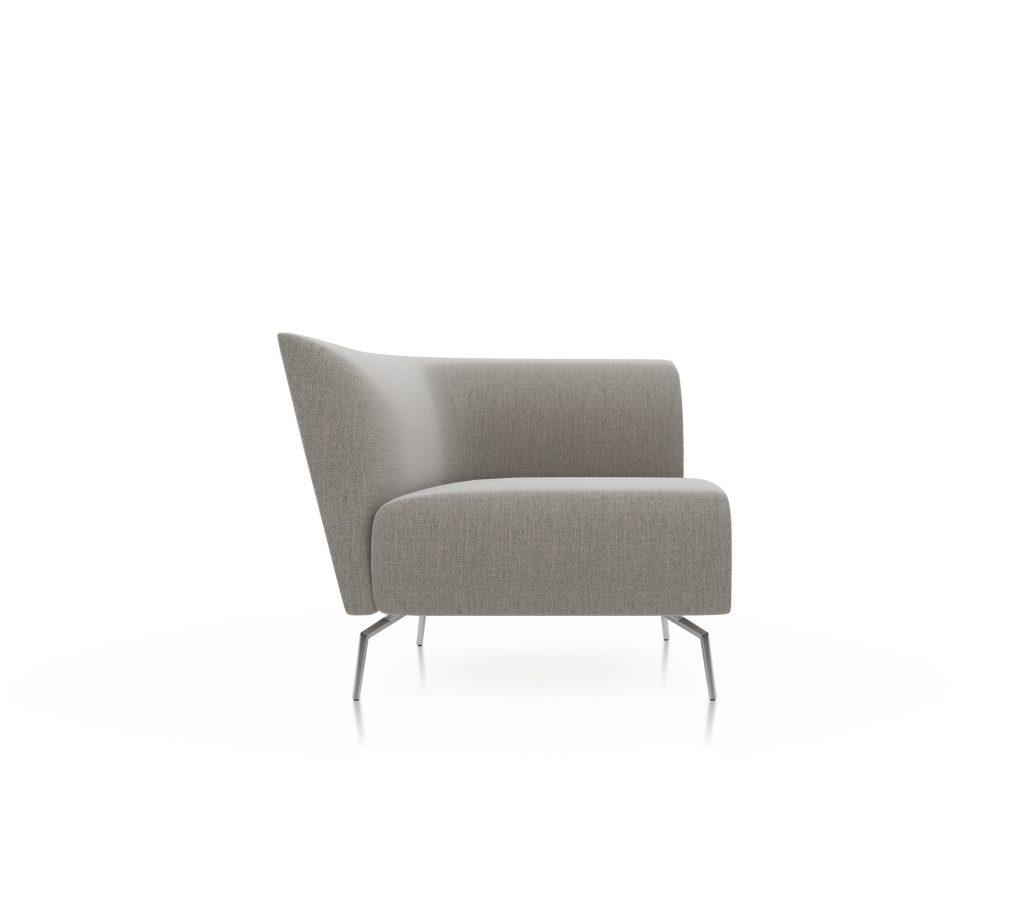 Friant Furniture Soft Seating Jot Render - Single Left Sectional