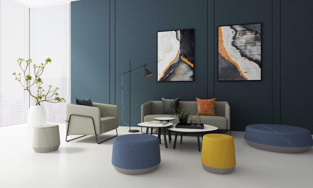Friant Furniture Soft Seating Workplace Render - Hanno_Pog II_Collections
