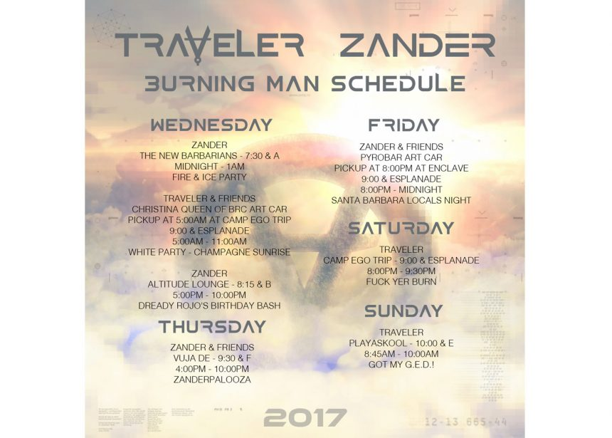 Catch Traveler And Zander On The Playa!